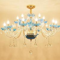 European Style Candle Chandeliers Hall Bedroom Living Room Restaurant French Luxury Atmosphere Glass Lamps Crystal Chandelier