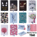 Fashion Cartoon flower Wallet PU Leather Stand Case Cover For Samsung Galaxy Tab E 9.6 T560 SM-T560 T561 tablet cases skin #1