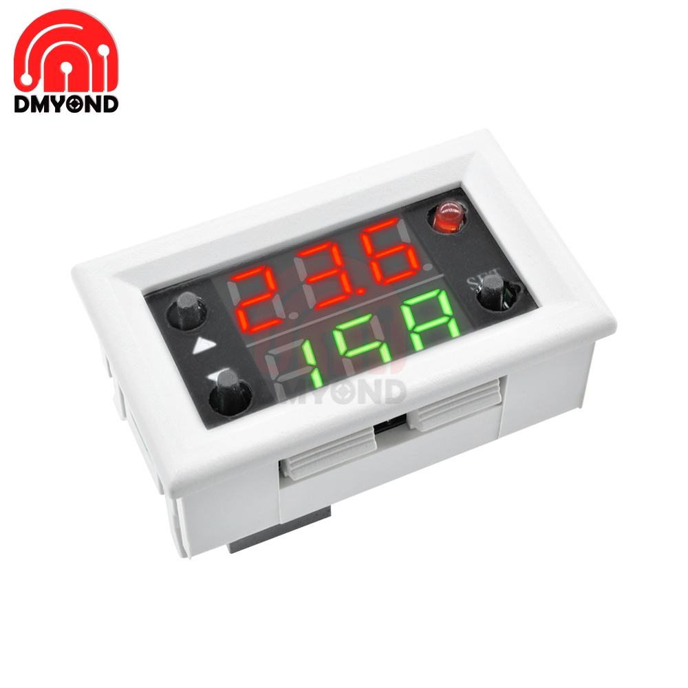 DC 12V Dual Display Time Relay Module Red Blue Time Delay Relay Mini LED Digital Timer Relay Cycle Timer Control Switch for Home