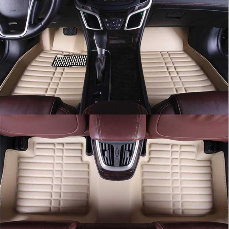 Auto Voiture tapis de Sol Pied Tapis Pour Hyundai Solaris Santa Fe Tucson Elantra Ix35 2017 Accent 2008 Étanche Accessoires Tapis