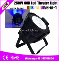 6pcs/lot Professional Stage Lighting 6in1 RGBWA UV LED Par Can 200 watt DMX Par64 Wash 200w COB LED