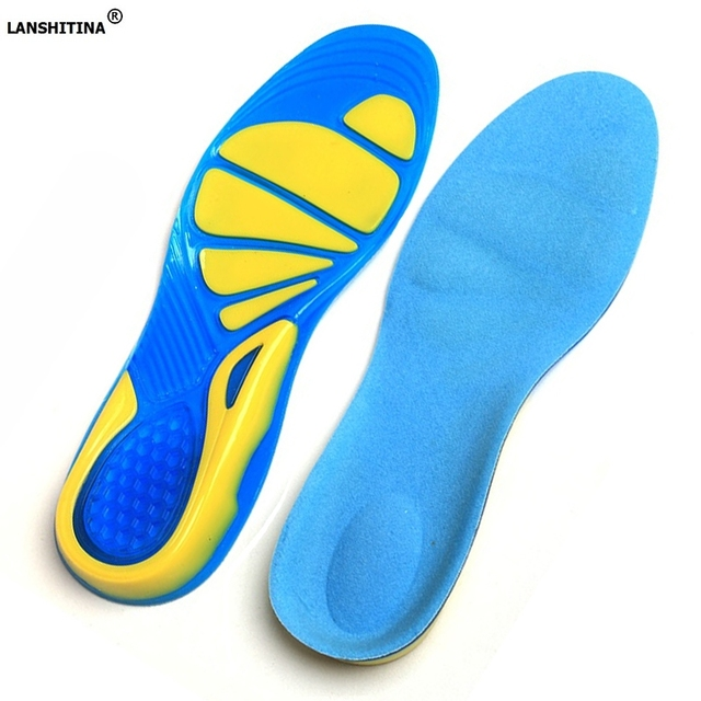 0ea2170747 Shock Absorption Pads arch orthopedic insole Silicon Gel Insoles Foot Care  for Plantar Fasciitis Heel Spur Running Sport Insoles