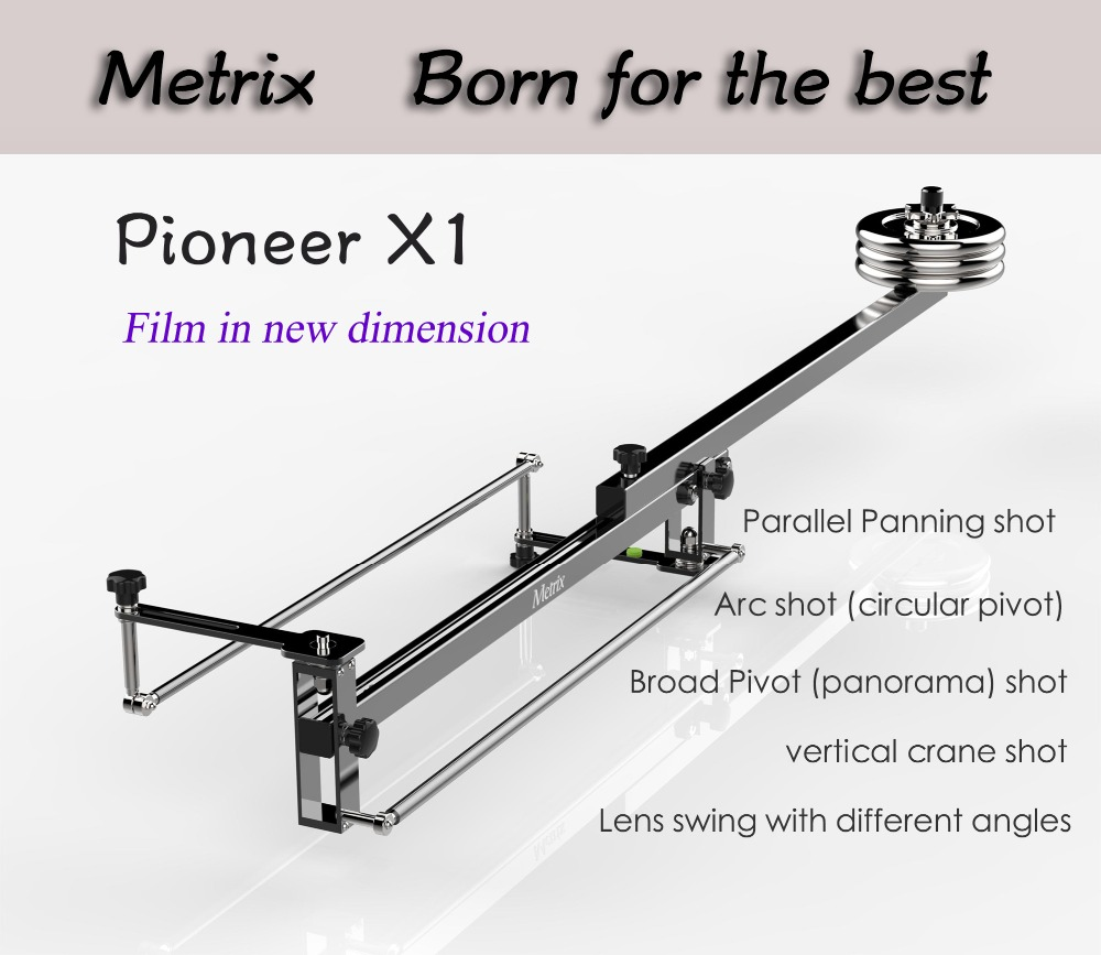 METRIX X1 Professional Portable DV Aluminum slider focus panorama shooting Mini Jib Video camera Crane DSLR Jibs with Bag professional dv camera crane jib 3m 6m 19 ft square for video camera filming with 2 axis motorized head