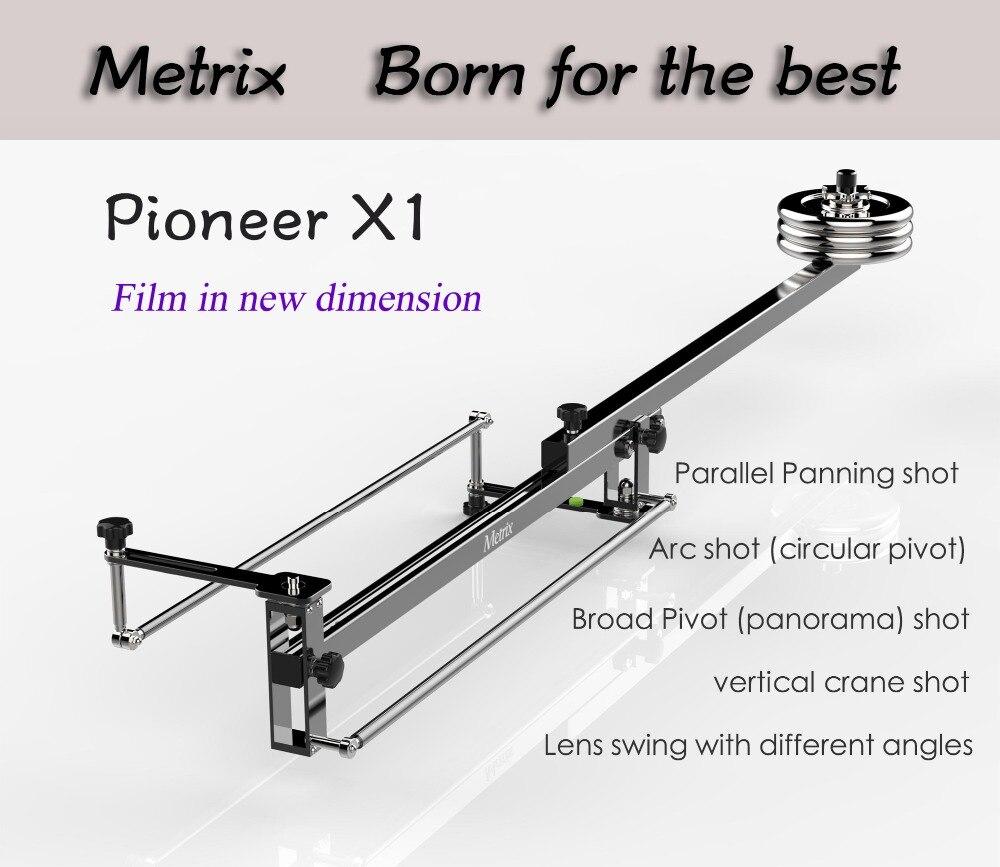 METRIX X1 professionnel Portable DV aluminium curseur mise au point panorama prise de vue Mini flèche vidéo caméra grue DSLR Jibs avec sac