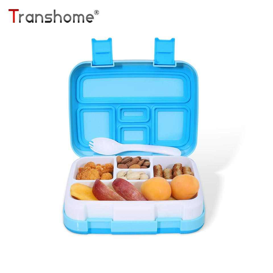 Transhome Microwave Lunch Box For Kids School Lunch Boxes Portable Dinnerware Food Storage Container
