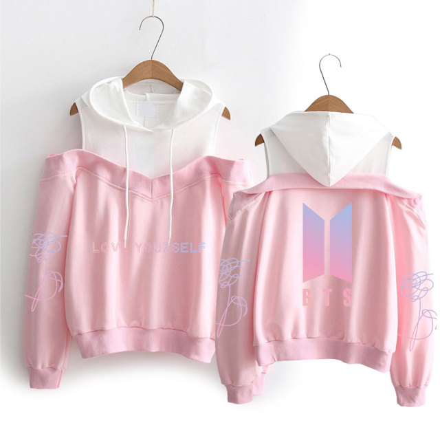 Shoulder-less Love Yourself BTS Hoodie