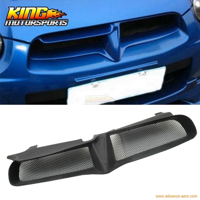 For 04 05 Subaru Impreza WRX Sti PU Black Front Grille JDM USA Domestic Free