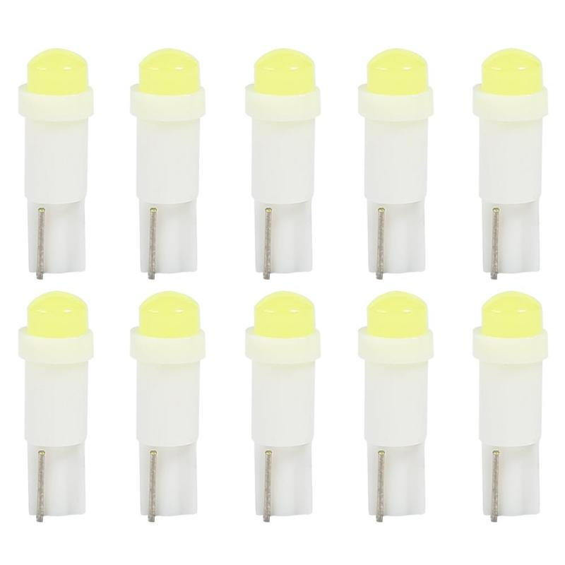 10pcs <font><b>T5</b></font> 3D COB LED Bulbs for Car Interior Instrument Panel Light Reading Lamp Low Power Consumption And Energy Saving image