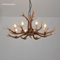 Antlers Resin chandelier Lamp Modern LED bedroom chandeliers Lustre Vintage Living room kitchen Lights Novelty Lighting fixtures