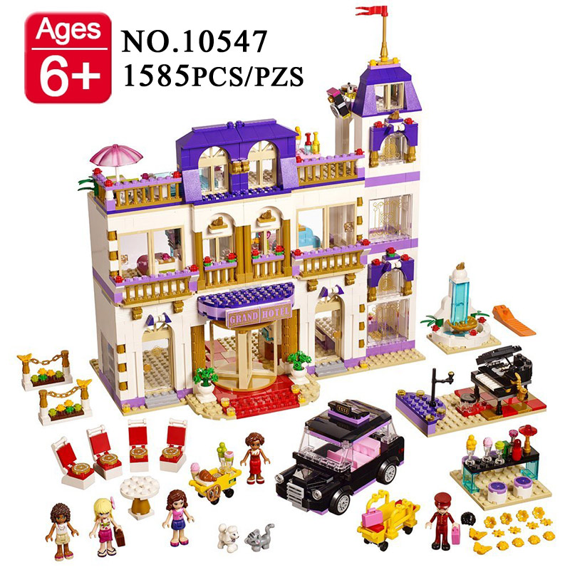 BELA 10547 Girls Friends Heartlake Grand Hotel Building Blocks Kid house Model DIY Bricks Toys gift Compatible With Leping 01045 lepin 01045 1676pcs girls series heartlake grand hotel set children eucational building blocks bricks toys model gift 41101