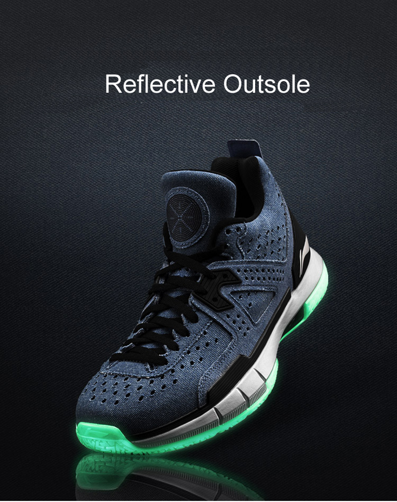 Li-Ning Men WOW 5 Denim Professional Basketball Shoes LiNing Cloud Bounse + wow5 Sneakers Way of Wade Sport Shoes ABAM057 XYL099 29