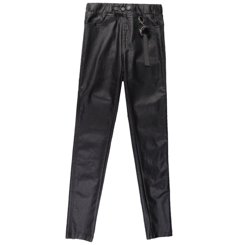 cb4126a5c Elastic High Waist Extra Long PU Leather Pants 107Cm For Tall Girl Over  Length Winter Warm Black Skinny Faux Leather Pencil Pant-in Pants & Capris  from ...