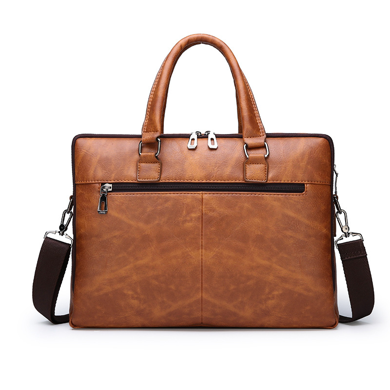 High Quality Classic Crossbody Men Genuine Leather Briefcases Fashion Laptop Bag Messenger Bag Female Shoulder Bags Handbag in Briefcases from Luggage Bags