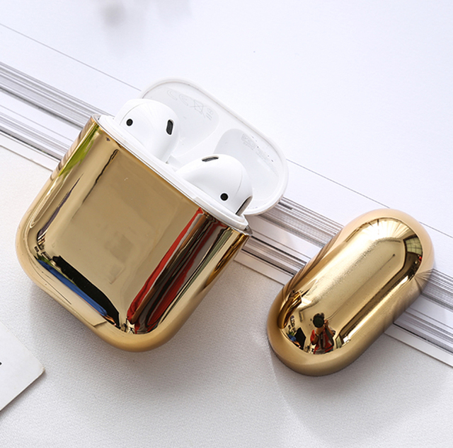 PC Earphone Case For Airpods 2 Air pods Transparent Color Hard PC Cases For AirPods Case Protective Cover Wireless Earphone Case