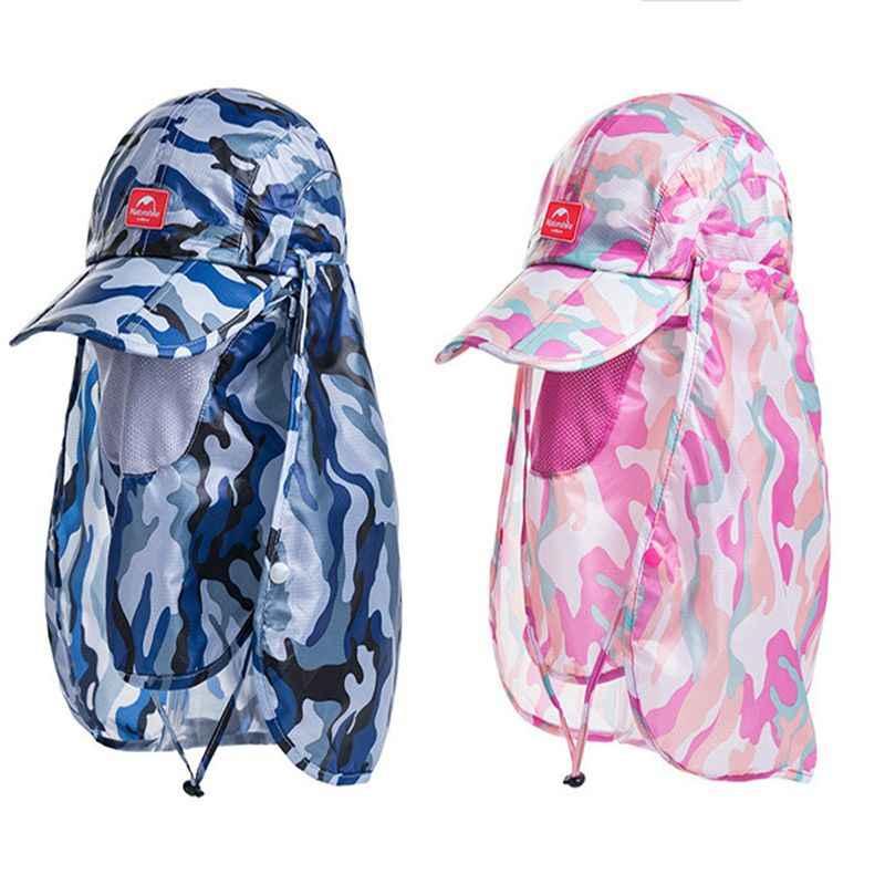 Naturehike outdoor camouflage hoed wandelen camping man anti uv strand cap vrouwen zonnescherm doorwaadbare ademende sneldrogend caps