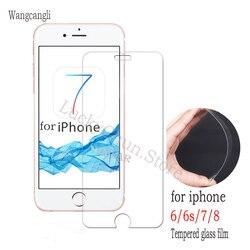 На Алиэкспресс купить стекло для смартфона wangcangli 2.5d protective tempered glass for iphone 6 7 6s 8 plus x glass iphone 7 8 x screen protector glass on iphone 7 6s 8