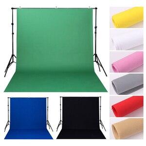 Image 1 - Estúdio de fotografia, 1.6m x 2m/3m/4m não tecido fundo de fundo de cor sólida pano de maquiagem da tela preta verde branca