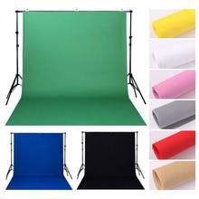 Fotoğraf stüdyosu 1.6M x 2M/3M/4M dokunmamış zemin arka plan düz renk yeşil beyaz siyah ekran Chromakey kumaş