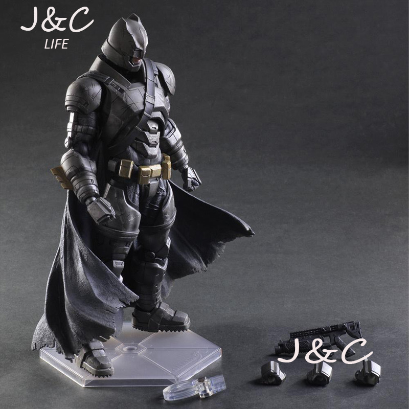 Hot Sale Justice league Batman Movie Play Art PA Heavy Batman PVC Action Figure Toy 27cm Anime Model Statue Doll Kits Toys xinduplan dc comics play arts justice league movie batman bruce wayne movable action figure toys 27cm kids collection model 0271