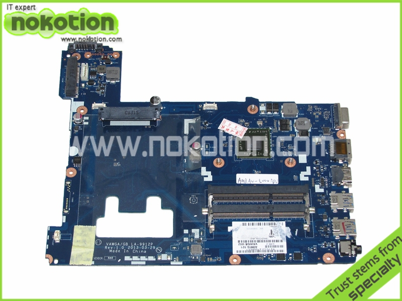 VAWGA GB LA-9912P Laptop Motherboard for Lenovo G505 Mainboard A4-5000 CPU onboard Full Tested original laptop motherboard for lenovo 90003015 g505 la 9911p fully tested working perfect