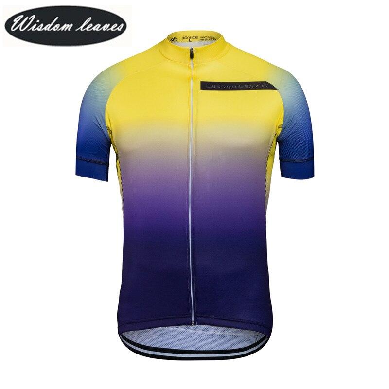 Sagesse feuilles 2017 Designer marque hommes professionnel cyclisme jersey femmes à manches courtes vélo vêtements équipe motocross maillots ODM