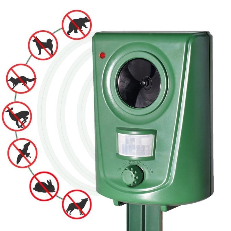 Solar Powered Ultrasonico Repellente Per Zanzare Respingere Pest Animale Controllo PIR Montion Sensore Repeller Del Prato Inglese del Giardino All'aperto Cane Deterrente