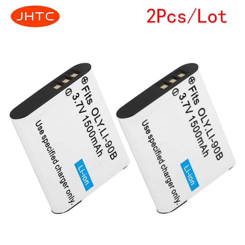 JHTC 2pcs/lot 1500mAh LI-90B LI-92B LI92B LI90B 90B for Olympus XZ-2,SH-50,SH-1,SP-100,Tough TG-1,TG-2,TG-3,TG-4,TG