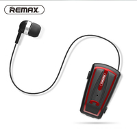 Remax Collar Clip Prompt Retract Cable Wireless Business Bluetooth Earphone Headset In Ear Handsfree Earbuds For