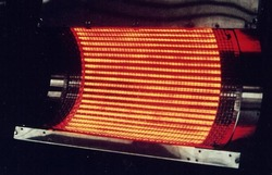 Kwarcowy rura nagrzewnicy i lampa płomiennika podczerwieni dla przemysłu suszenia 2000 W