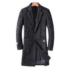 2016 зима Новый стиль мужской досуг моды пиджаки пальто куртки мужская длинная шерсть шерстяная ткань пальто Бесплатно доставка