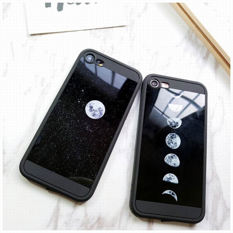 Space Eclipse Moon Soft TPU Case for iPhone X 8 Plus 7 Plus Luxury Silicone Mirror Slim Cover for iPhone X 6 6SPlus Fashion Capa