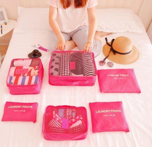 6pcs set 2016 Brand Nappy Mummy Bag Maternity Diaper Nappy Pad Portable Organizer Case Travel bag