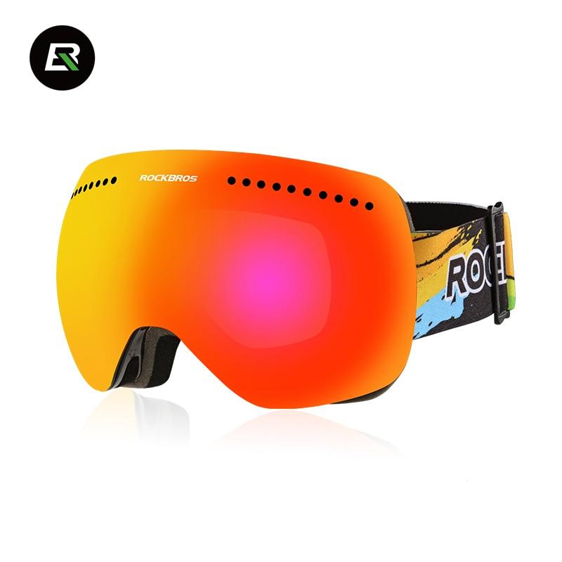 ROCKBROS Ciclismo Gafas de Esquí Gafas Anti-Vaho A Prueba de Viento Máscara Esfé