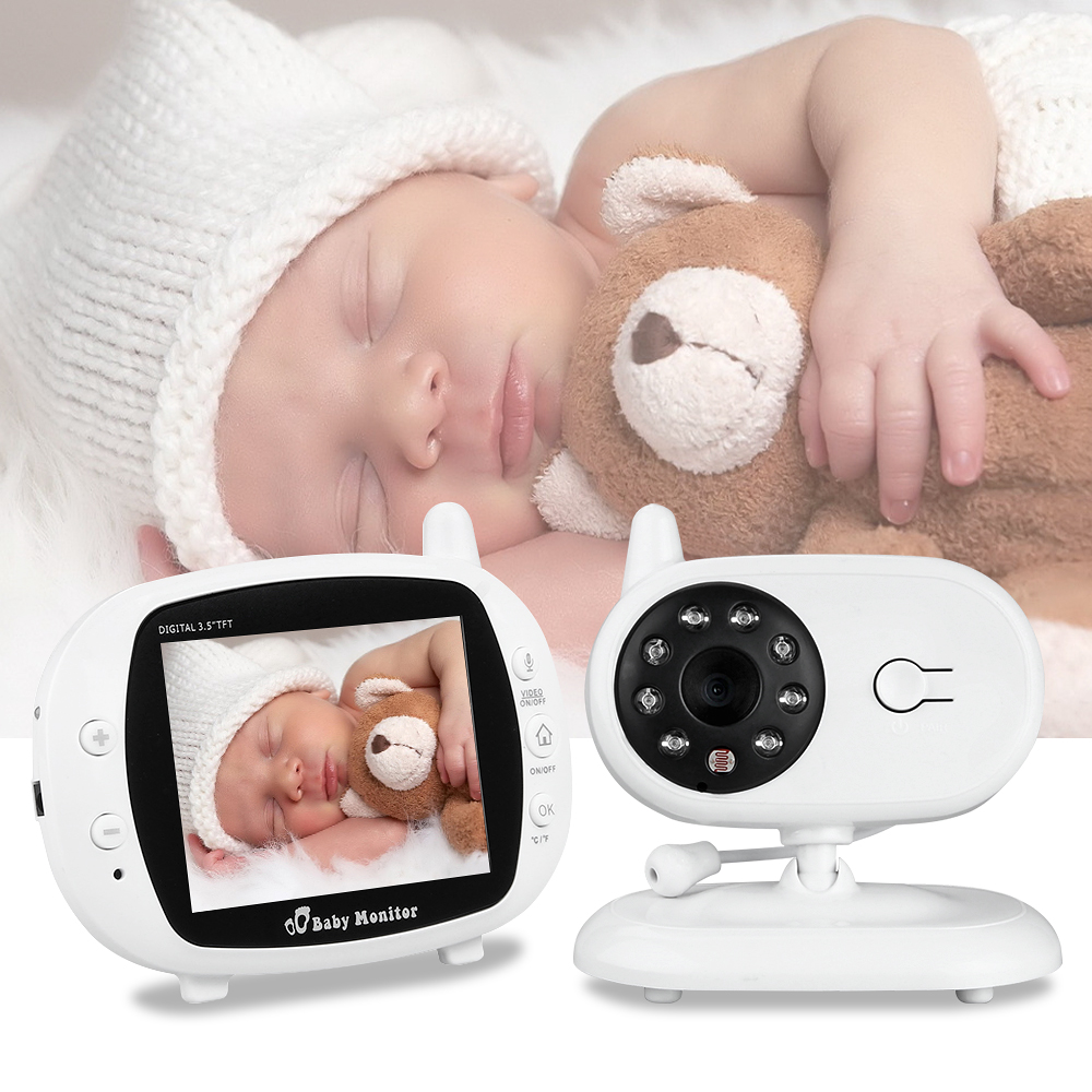 3.5inch Wireless Video Color Baby Monitor Baby Nanny Security Camera Night Vision Temperature Monitoring Two-way Talk baby phone wireless lcd audio video baby monitor security camera baby monitor with camera 2 way talk night vision ir temperature monitoring