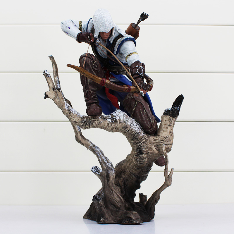 Assassins Creed The Hunter Figurine Connor Classic Game Assassins Creed 3 Figure Action Collectible Toys assassins creed connor action figure iii game toys assassin creed 260mm pvc anime collectible action figures assassin creed toy