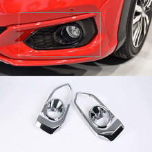 Car Accessories Exterior Decoration ABS Chrome Front Fog Lamp Light Cover For Honda Fit Jazz 2018 Styling accessories!