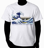 Книги по искусству футболка волна канагава футболка Hipster Брендовая детская одежда от Harajuku футболка Лидер продаж 100% хлопок