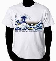 אמנות חולצה הגל כבוי קאנאגאווה הגדולה חולצת טי הברנש Harajuku בגדי מותג חם למכור חולצה 100% כותנה