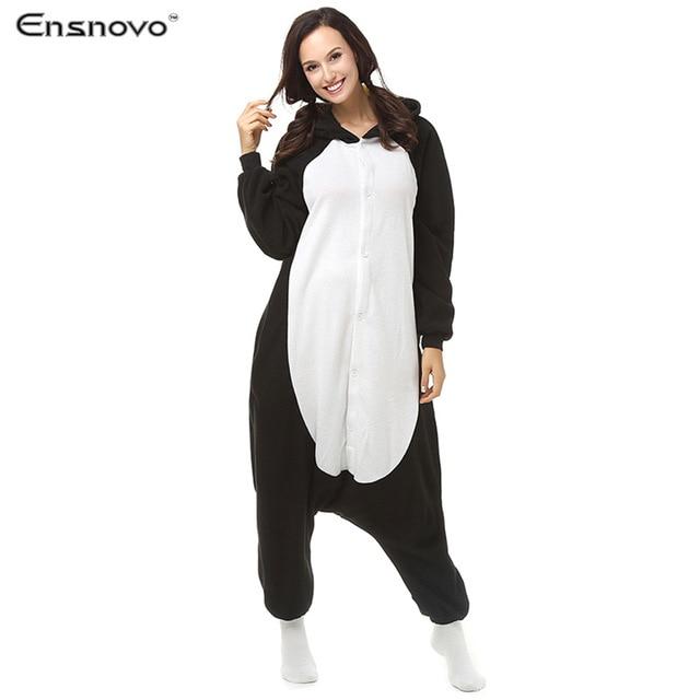 Ensnovo Women Cartoon Winter Sleepwear Pijamas Enteros Animal Sloth Onesie Adult Full Body cute pajamas Costumes