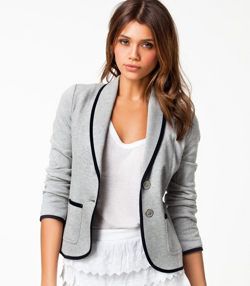Online Get Cheap Grey Blazer Women Fashion -Aliexpress.com ...