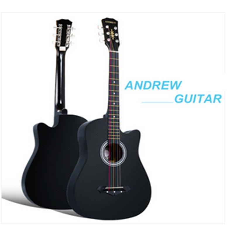 38 pouce folk guitare six cordes de bois de tilleul guitare livraison gratuite