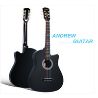 38 Inch Folk Guitar Six Strings Of Linden Wood Guitar Free Shipping