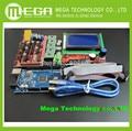 1 pcs Mega 2560 R3 CH340 + 1 pcs RAMPS 1.4 Controlador + 5 pcs A4988 Stepper Módulo Driver + 1 pcs 12864 controlador para 3D de Impressora kit
