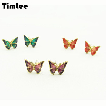 Timlee E065 Free shipping Simple Delicate Dripping Oil Butterfly Alloy Studs Earrings Fashion Jewelry wholesale.jpg 350x350 - Timlee E065 Free shipping Simple Delicate Dripping Oil Butterfly Alloy  Studs Earrings Fashion Jewelry wholesale