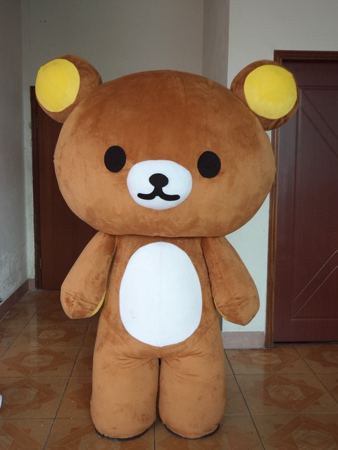 Relaxation teddy bear mascot costume apparel & Relaxation teddy bear mascot costume apparel-in Anime Costumes from ...