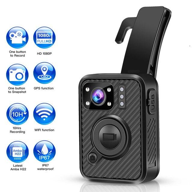 BOBLOV Wifi Polizei Kamera F1 32GB Körper Kamera 1440P Getragen Kameras Für Recht Durchsetzung 10H Aufnahme GPS nachtsicht DVR Recorder