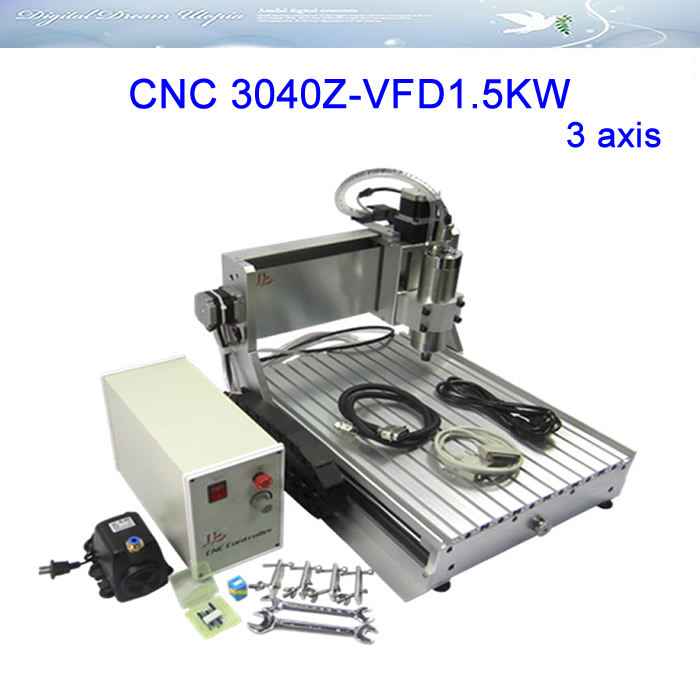 LY 3040Z-VFD1.5KW 3 axis Engraving Machine ,milling machine,cnc router with water cooling spindle,Russia free ship & tax! 4 axis cnc router 3040z s 800w cnc spindle cnc milling machine with dsp0501 controller free ship to russia no tax