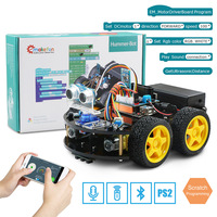 4WD Robot Car Diy Kit for Arduino With Ble UNO,SupportIOS/Android Scratch,App Wifi Educational STEM Toy No Soldering Needed