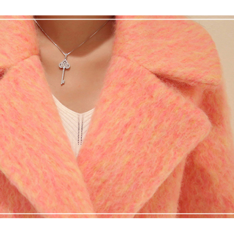 Femme Costume Ym037 Gris Laine Long Automne Et Femmes Veste Hiver 2018 De Élégant pink Col Haute Qualité Épaisse Manteau ZH4qwaz