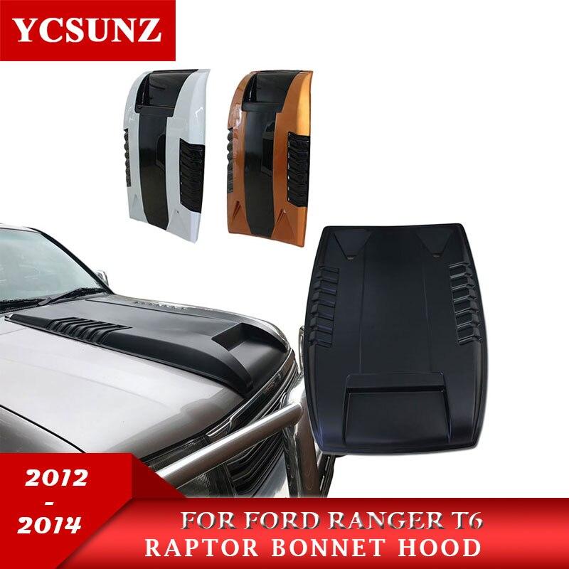 2012-2014 Raptor Scoop Capot Capot Pour Ford Ranger 2012-2014 Capot Capot Pour Ford Ranger T6 2013 accessoires extérieurs Ycsunz
